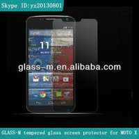 Cellphone glass film MOTO X screen protector,factory OEM/ODM with retail packaging,Japan AGC glass