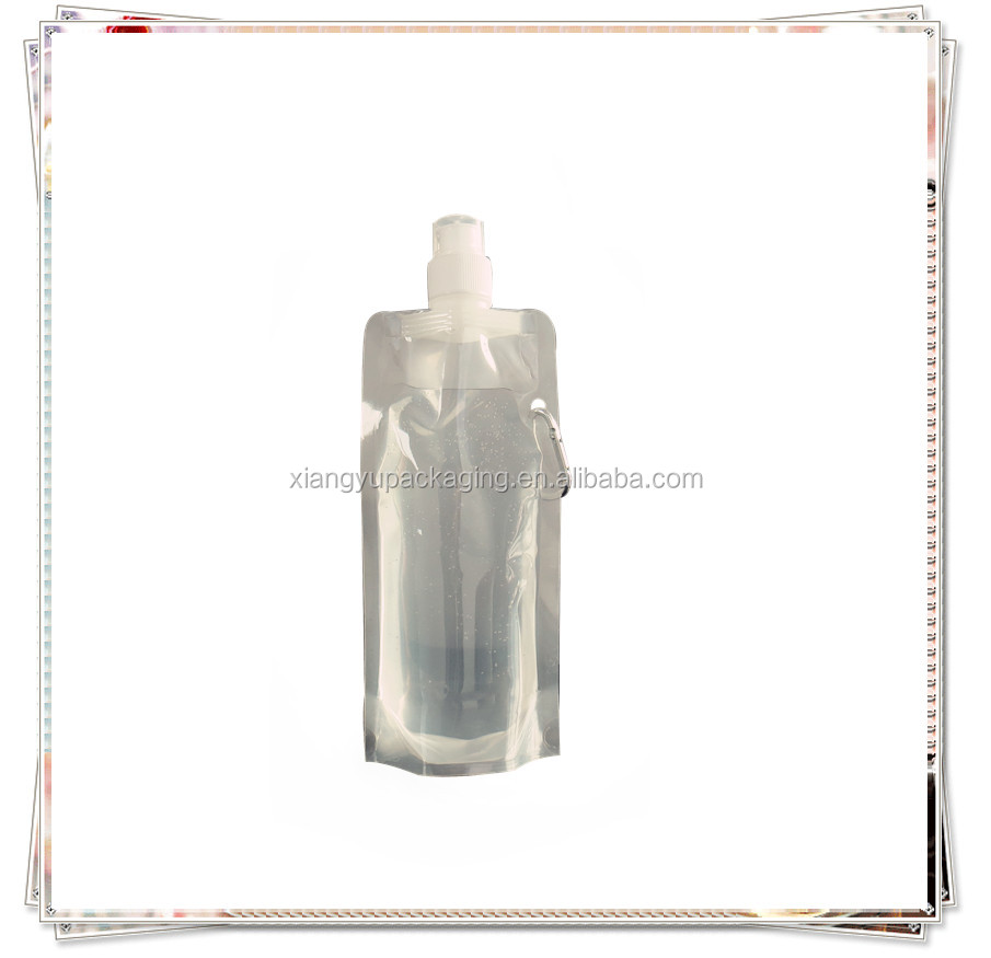 Transparent liquid water stand up pouch/drink pouch with spout packaging