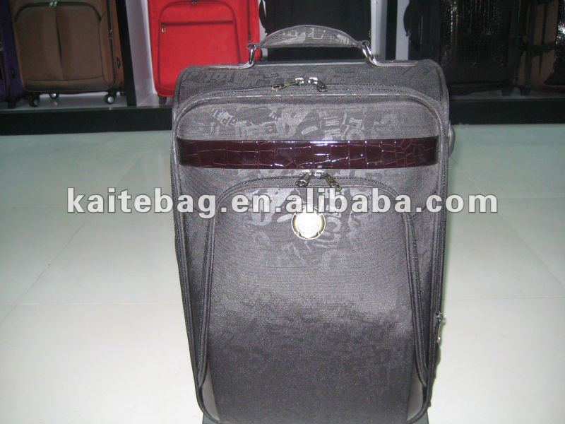 classic printing fabric with circle color logo trolley bag