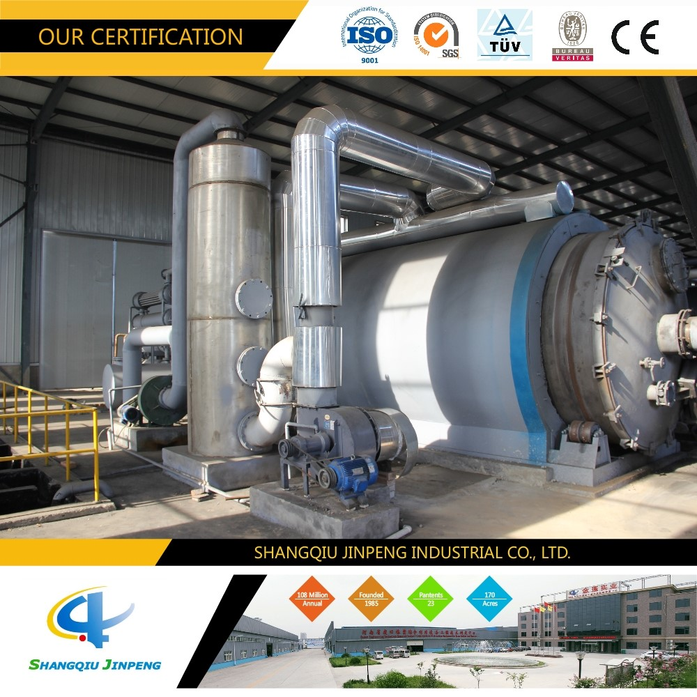 Environmental Protect Waste Plastic Pyrolysis Equipment to oil CE ISO Certificates