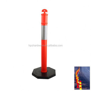 Removable Traffic Flexible Road Marker Posts Steel Bollard