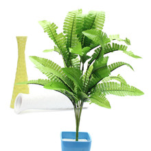 Beautiful Green Imitation Fern Plastic Artificial Grass Leaves Plant Display Flower for Home Wedding mas Decoration Arrangement