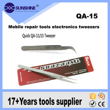 Hot Sale Pointed/Curved Esd Stainless Steel Tweezers For Mobile Repair