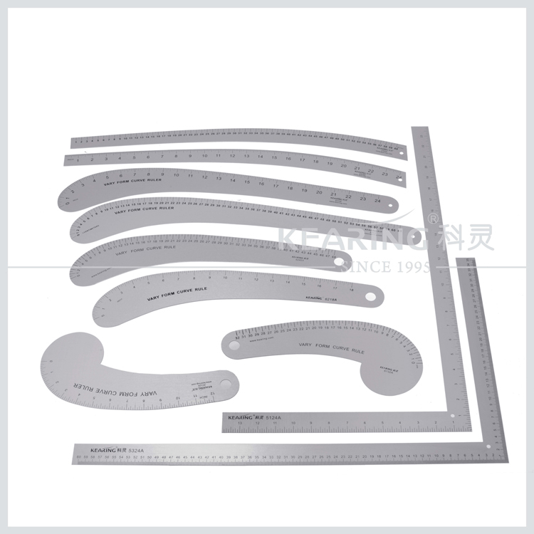 Aluminum Curve Ruler & Sew Design Metal Ruler & ARMHOLE CURVE RULER