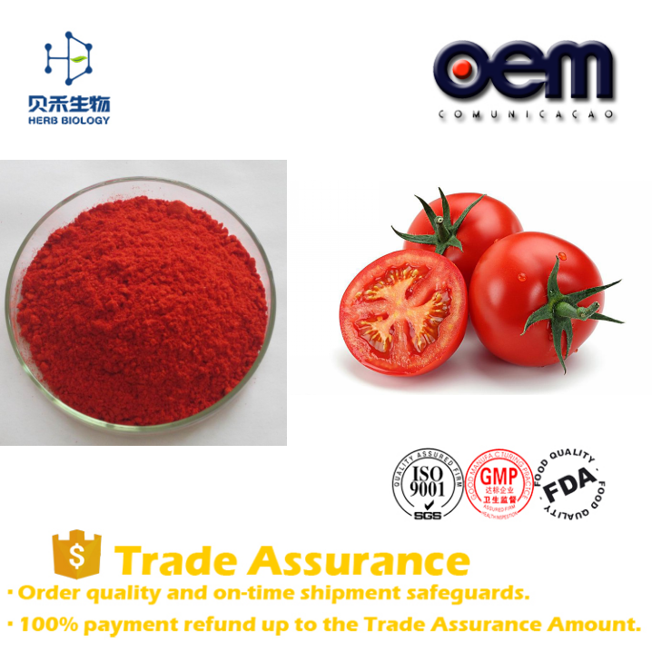Factory supply dehydrated tomato pow 5%- 98% Lycopene
