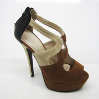 New style 2012 spring summer latest design velvet high heels platform ladies shoes