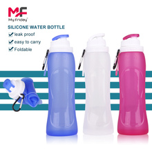 China factory custom logo fda leak-proof soft silicone high-end water bottle