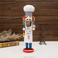 Large chief nutcracker, wood nutcracker for Christmas decoration