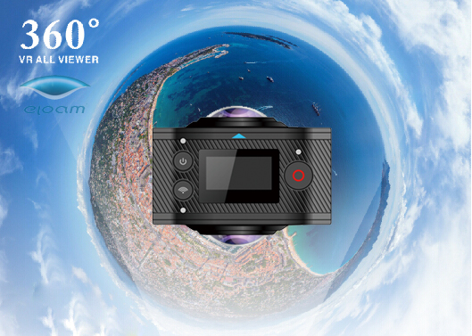 HD 1080p Panoramic 3D VR Video Camera for google glasses