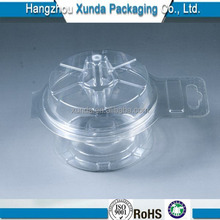 biodegradable blister PET plastic packaging container with hinged lid