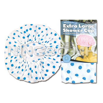 Extra Large Shower Caps Blue Dots