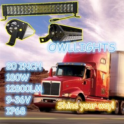 Best selling!!! 180w LED light bar,off road 4x4 accessory truck 4wd SUV,auxiliary 20inch LED driving light 180w led work lamp