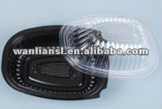 Plastic roast chicken container