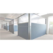 Portable office walls wooden partition invisible frame partition frameless glass partition