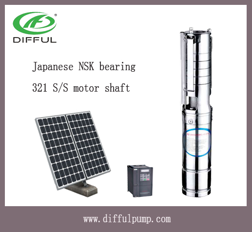 3 inch solar pump Multistage Deep well submersible turbine pump