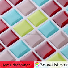 Non toxic peel and stick DIY bright colorful mosaic tiles for kids room decor