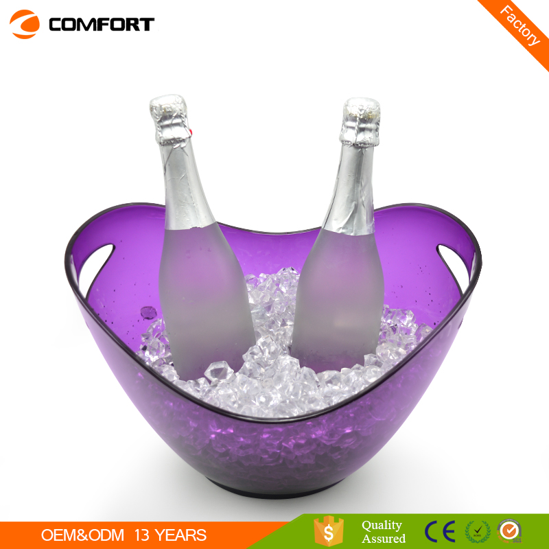 Hot boat shape 8L purple ice bucket