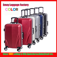 2016 aluminum Frame High Quality Eminent ABS+PC Trolley Colorful Case Luggage
