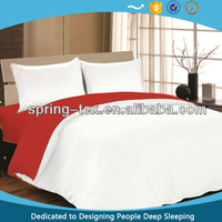 Cheap 80GSM Brushed polyester Reversible duvet cover