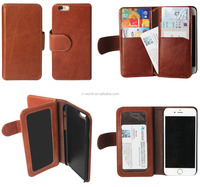 Multifunctional PU Leather Covers Wallet Case for iPhone 6s with 6 Card Slots
