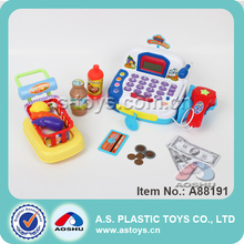 hot sale kids supermarket play electronic cash register toy with high quality