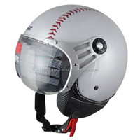 basebal open face helmet for motorcycle scooter and street bike