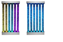 Amazing water column bubble for home scree,LED light water bubble tube for n hotel decoration
