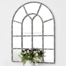 Window shaped metal frame big handmade decorative mirror