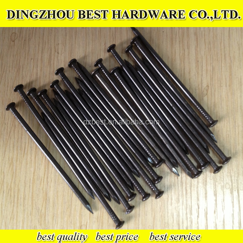 black coated concrete construction steel nail