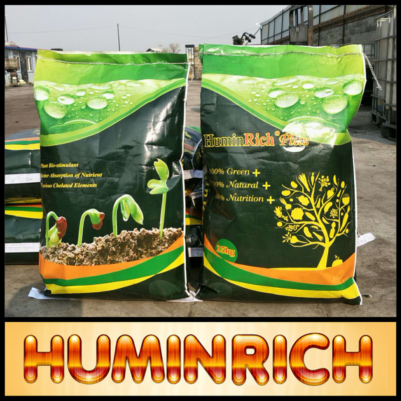 """HuminRich"" 99.7% Water Soluble Humic Acid Powder 60HA+12K2O Peat Moss And Fertilizers"