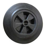 8inch rubber tread wheel with polypropylene core