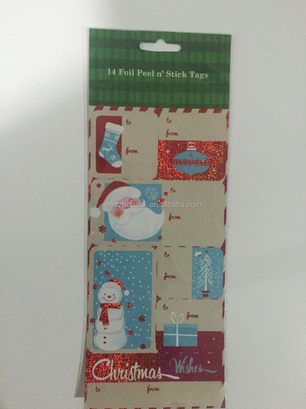 Christmas 36 Holographic peel n'sticker Gift Tags Adhesive hologram sticker