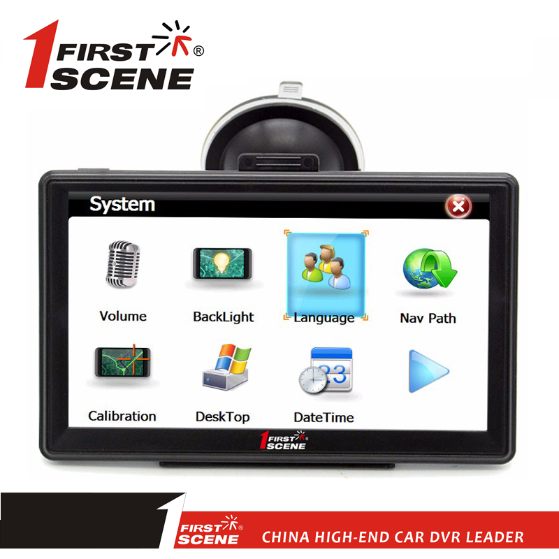 "Firstscene OEM car gps navigation system 4.3"" 5"" 7"" best sat nav capacitive touch screen new navigation GPS system for cars"