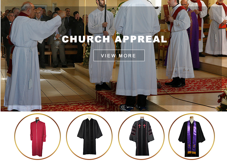 High Quality Cheap Pulpit Clergy Robe Clergy Church Robes for sale