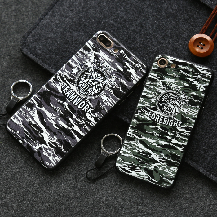 City case Brand Camouflage series Plastic Silicone phone case for iphone 7 7Plus Mobile Case