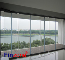 economical raw material wholesale balcony frameless folding glass doors