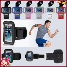 Mix Colors Running Sport Armband Cases for Samsung Galaxy Note3 III 2 with Arm Band Key Hole