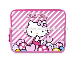 fancy pink hello kitty laptop sleeve case for girls