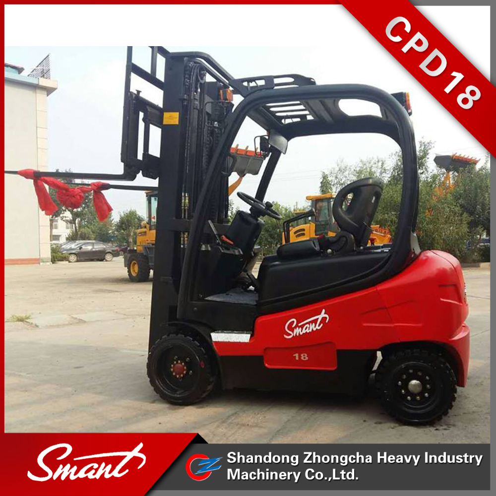 Warehouse Industrial Battery Forklift 1800kg CPD18 electric forklift truck for sale