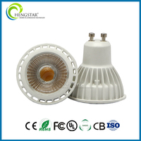 220V GU10 5w 6W COB 3000K Clear dimmable LED spotlight MR16 50w Halogen Equivalent