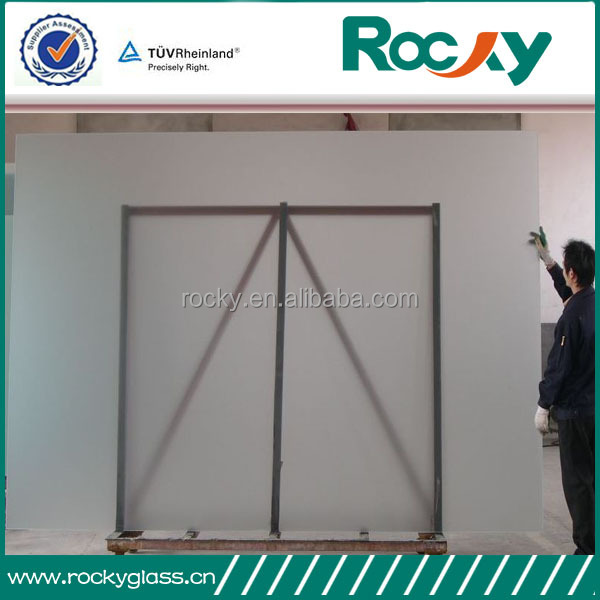 Factory produce 3-19mm frosted glass for shower room door high quality sandblasted glass