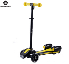 BIGBANG HANGZHOU 2017 new scooter flame lamp toy rocket spray kids love kick scooter for sale