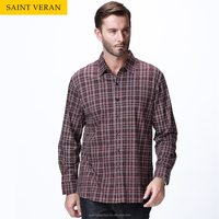 Cheap man long sleeve custom quality plaid man casual shirt