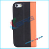 BRG-2014 New product for iphone flip leather cover ,wallet case for iphone 5