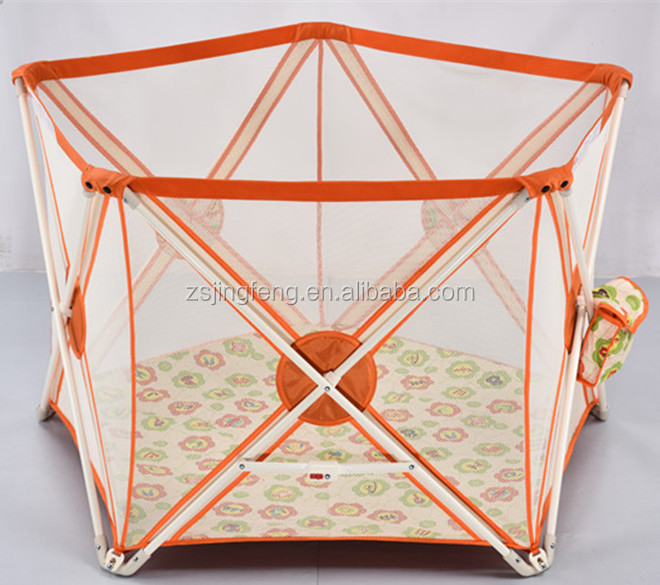 2015 Hot sale Colorful Foldable Baby Safety Playpen Baby Play Fence Factroy