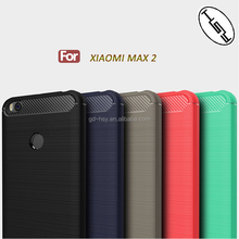 For XIaomi Max 2 Scratchproof Back Cover Soft Case Brushed Carbon Fiber TPU Case for XIaomi Mi Max 2