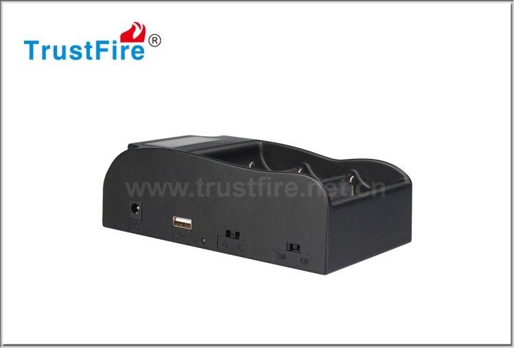 TrustFire TR-008 1A universal battery charger with usb output for 3.7V li ion battery