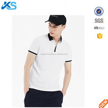 Polyester/spandex blend pique white plain dyed blank basic working uniform unisex polo shirt