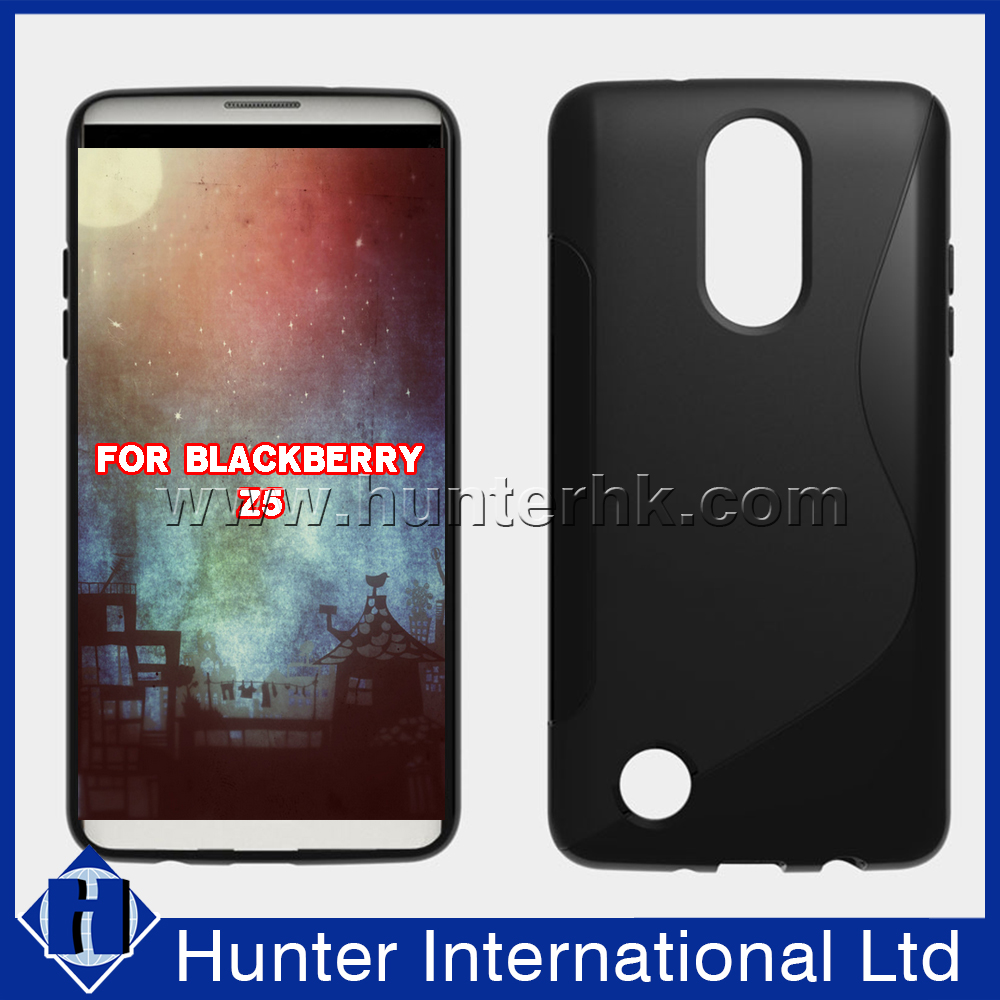 Hot Sale S-line Jelly TPU Case For Blackberry Z5