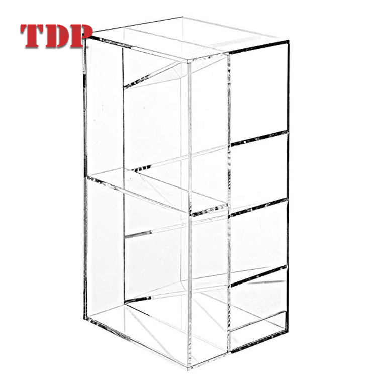 Factory Wholesales Desk Accessories Set Divider Organizer Acrylic Storage Box